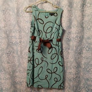 Teal and brown short dress